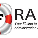 raft logo with red and white livesaver graphic
