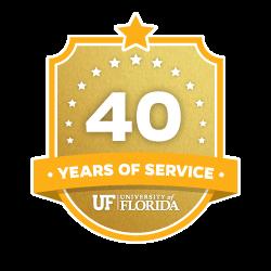 40 Year Recipient Award Badge