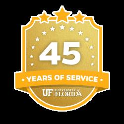 45 Year Recipient Award Badge
